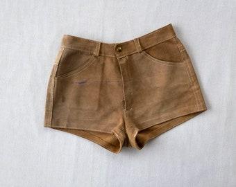 vintage suede short shorts