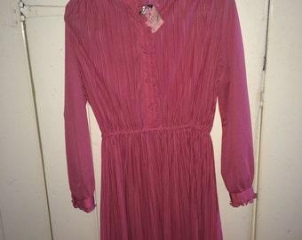 Pink victorian style vintage dress