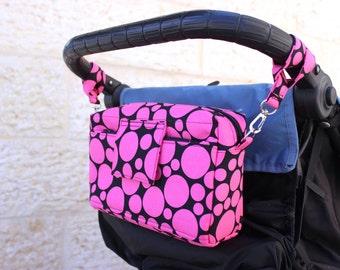 Stroller Organiser - Stroller Bag - Stroller caddy - Pram Bag - Small Diaper Bag - Small Nappy Bag - Buggy Bag - New Baby gift - baby shower