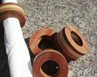 Wooden Napkin Ring Set of 4 , Napkin rings , Tissue ring, Wood Kitchen Dining Table Decor