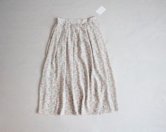 silk floral skirt | full silk skirt | high waist skirt