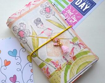 Only Regular size - Fabric Cover Fauxdori, Travelers Notebook, Cover fabric, Fabric Midori book, Regular Size Midori