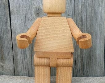 Magnetic Wooden men 17cm.  wooden toy Christmas wooden toys Wooden doll figure Christmas gift nursery decor Montessori waldorf toys