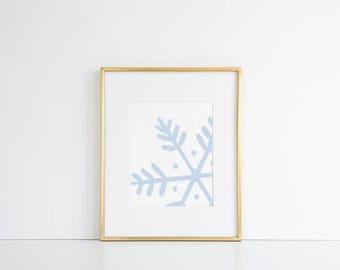 Christmas Decor // Snowflake Print, Christmas Download, Christmas Wall Art, Christmas Printable, Modern Xmas Art, Xmas Printable