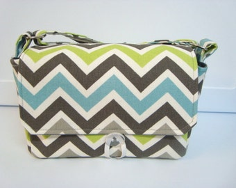 "Large 4"" Size Coupon Organizer / Budget Organizer Holder Box - Attaches to Your Shopping Cart - Matis Chevron Zig Zag"