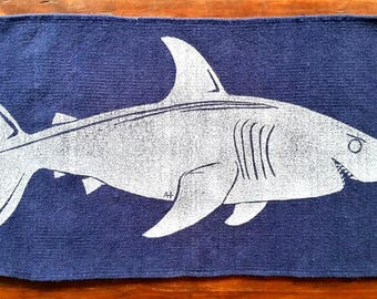 bath rug, bath mat SHARK cotton chenille rug