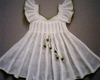 Knitted dress for girls      Вязаное платье для девочки
