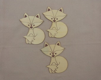 Wooden subjects embellishment: Fox