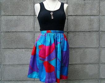 Short Skirt Vintage Floral High Waist mini Skirt