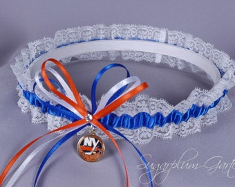 New York Islanders Lace Wedding Garter