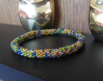 unique-gift for wife / beaded bangle / bracelet for women / gift idea stretch bracelet / roll on yoga bracelet