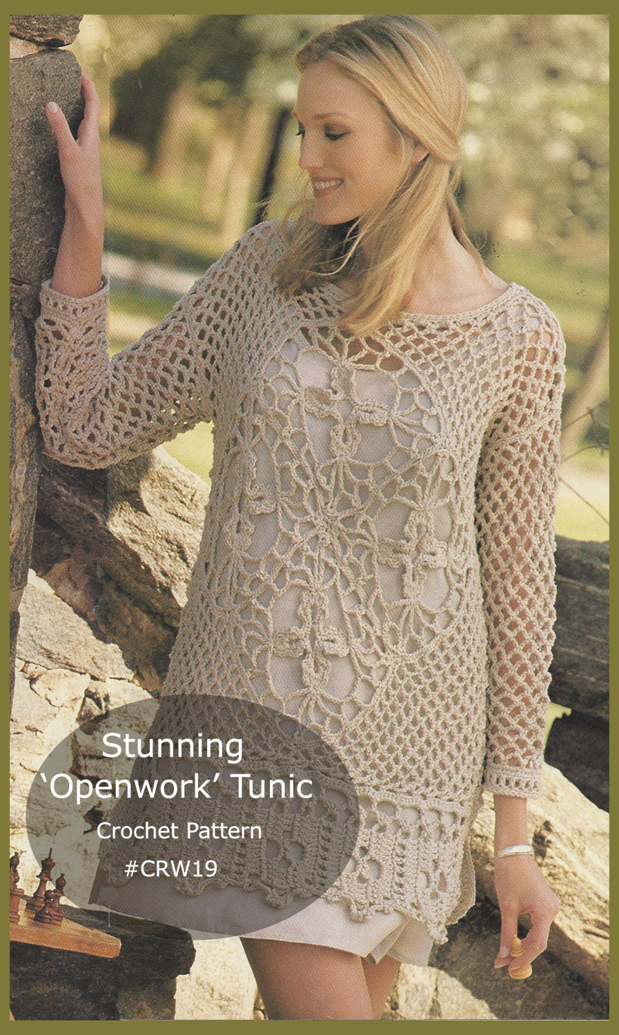 Beach Tunic Dress Openwork Crochet Pattern Dress Crochet Swim Wear ...