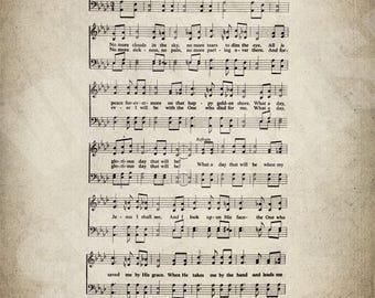 What A Day That Will Be Hymn Print - Sheet Music Art - Hymn Art - Hymnal Sheet - Home Decor - Music Sheet - Print - #HYMN-P-027