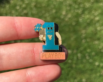 No. 1 PlayBoy enamel pin vintage lapel hat jacket pin