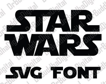 Sale! Star Wars Font SVG Collection - Star Wars Alphabet DXF - Star Wars Letter Clipart - SVG Files for Silhouette Cameo or Cricut