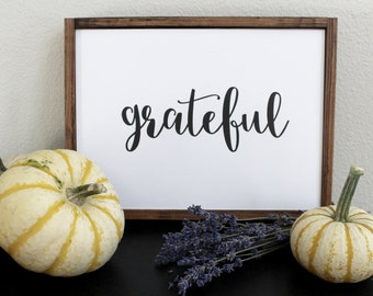 Grateful Digital Print, Farmhouse Style, Home Decor