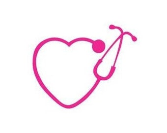 Stethoscope Heart Decal