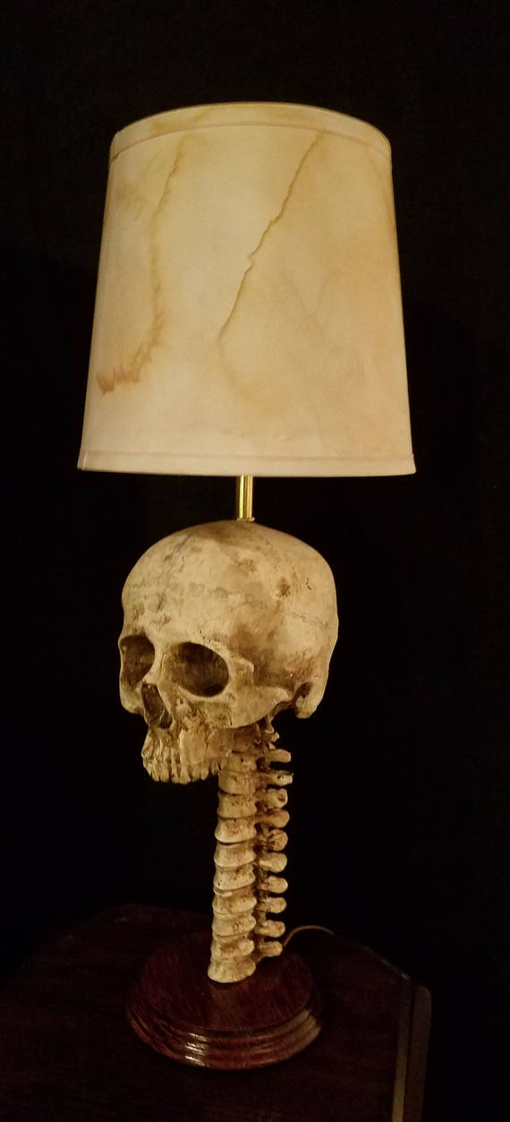 Skull lamp wspine and lamp shade aloadofball Image collections