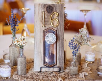 Vintage Door Knob Table Number