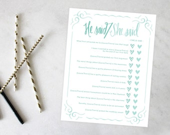 PRINTABLE Bridal Shower Games | Love Sweet Love