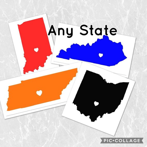 Any home state iron on vinyl heat transfer glitter state with