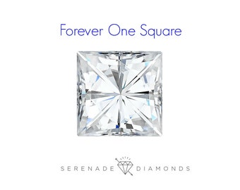 Square Loose Forever One Moissanite Charles and Colvard E-F Color Diamond Alternative Lab Grown Gemstone