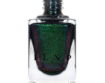 Salem - Rich Black Green Shimmer Nail Polish
