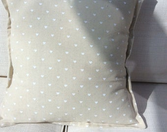 """Hearts Cushion Cover made to fit 18"""" infill."""