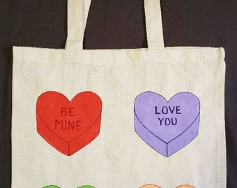 Candy Hearts Tote