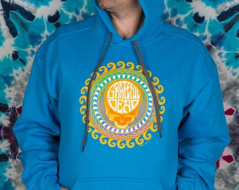 Large Grateful Dead HOODIE Orange Sunshine