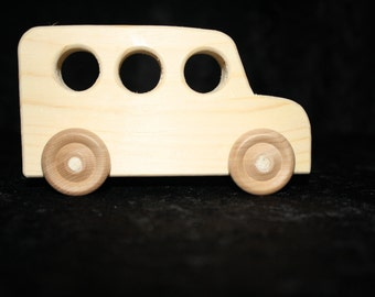 Wood toy bus, toy bus, wood toy - unpainted  - quantity 5