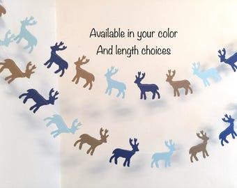 Buck Baby shower Decor/Garland - Woodland themed baby shower decorations - Buck banner- Oh deer Baby Shower Decor- Deer garland