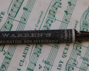 Antique Warren's Combination Penny Quill Pen - Late 1800's