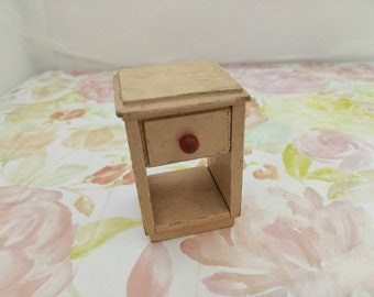 Strombecker night stand Pale Pink Shabby Chic  miniature dollhouse wood
