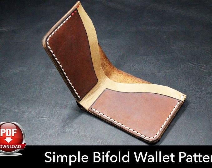 Wallet Pattern - Leather DIY - Pdf Download - Bifold Wallet Template