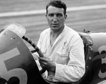 """1925 Race Car Driver Pete Kriess Vintage Photograph 8.5"""" x 11"""""""