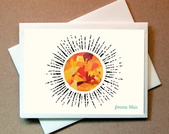 Sun Personalized Note Card (15 cards and envelopes)
