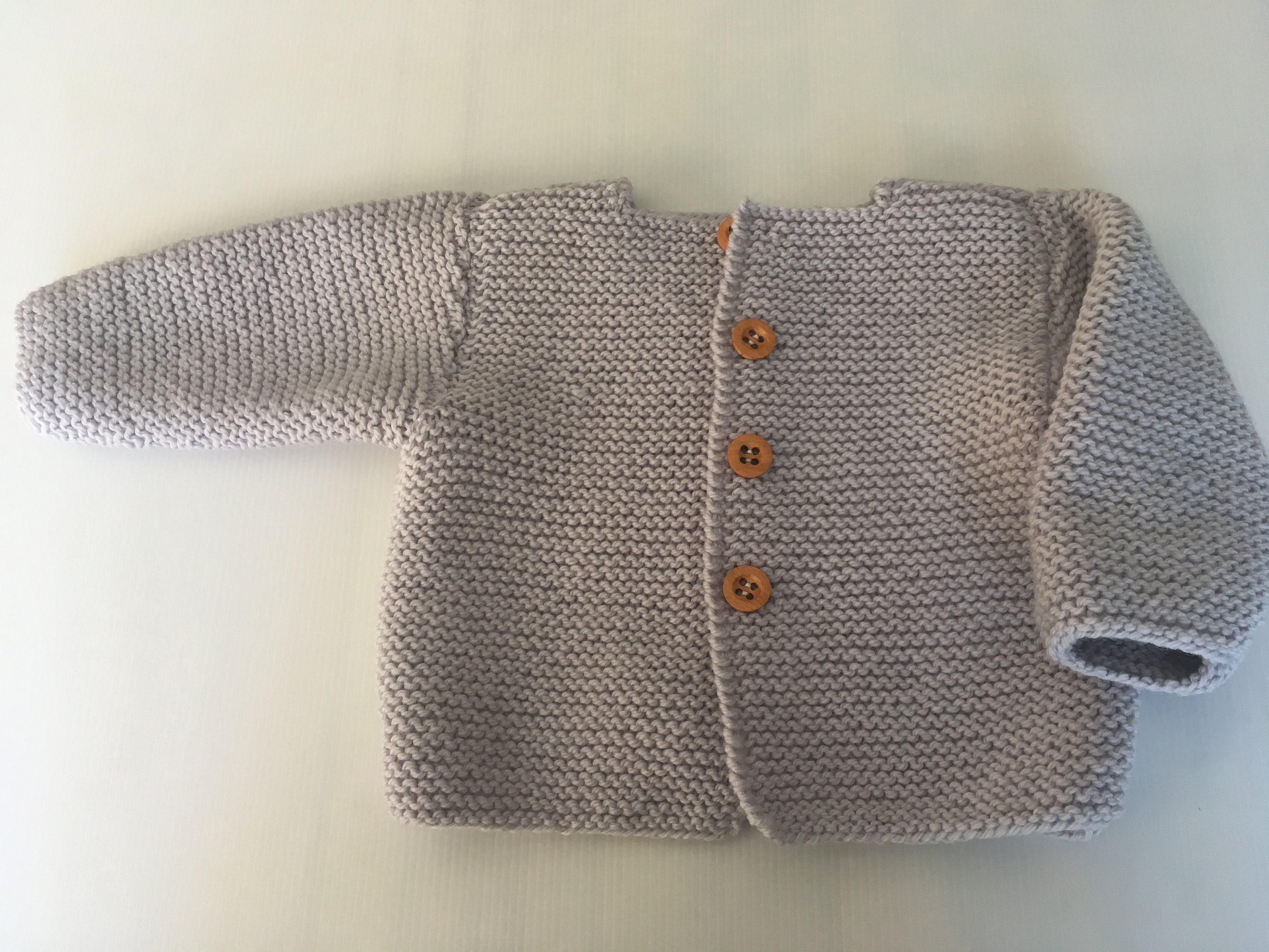 34ff6f071513 Hand knitted baby boy  girl Cardigan long sleeves Ghost