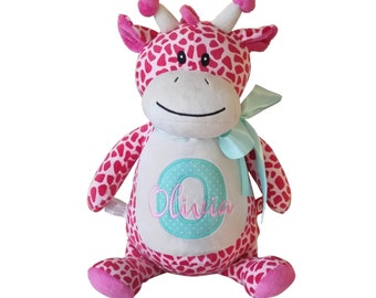 Personalized Stuffed Animal, Baby Announcement Plush Animal, Monogrammed Stuffed Animals, Baby Gift