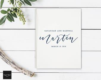 Wedding Guest Book, Trendy Guest Book, Modern Wedding Guestbook, Whimsical Guestbook, Bridal Shower Guest Book, Custom Baby Shower Guestbook