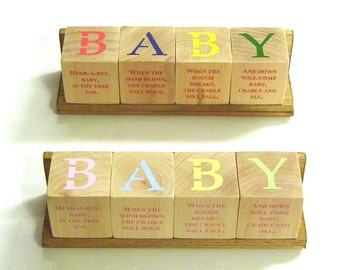 B-A-B-Y Blox with Nursery Rhymes - Pastel or Primary