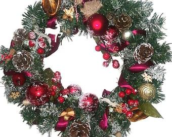 Christmas Front Door Wreath Chic Holiday Wreath Winter Season Wreath
