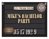 Police Line Up Sign Set Personalized Printables Custom Retirement Bachelor Party Date Photo Booth Prop Prohibition Speakeasy Roaring 20s