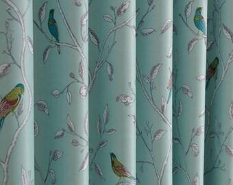 Two Custom Curtain Panels. Grommet Top. Triple Woven Fabric. 80% Light  Blocking