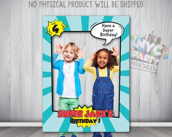Superhero Party, Superhero Birthday, Superhero Birthday Party PhotoBooth Frame, Superhero Printable