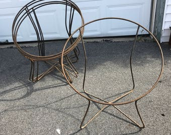 Solair Chair Metal Rust Frames Pair Saucer Chair Motel Chair Mid Century  Modern Vintage Bucket Chair Sling Chair