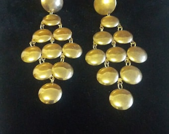 Fashion fun: Pierced, gold tone, dangle earrings