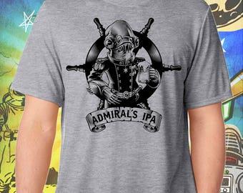 Star Wars / Admiral's IPA in Black / Men's Gray Performance T-Shirt