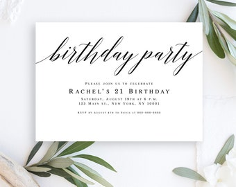 Invitation template etsy birthday party invitation template elegant birthday invitation woman birthday invitation template birthday party invitation instant download filmwisefo Image collections