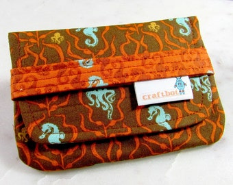 Sanitary Pad Holder, Seahorse, Octopus, Pad Case, Tampon Case, Sanitary Pad Case, Tampon Holder, Sanitary Napkins, Period Case, Heather Ross